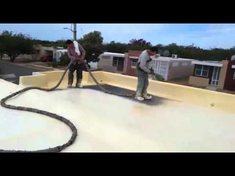Foam Roofing Application in Puerto Rico