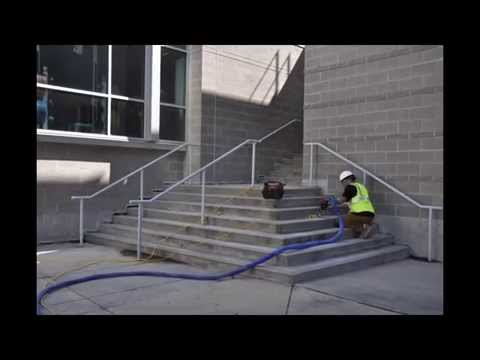 Liftech Raises Stair Set Using Polyurethane