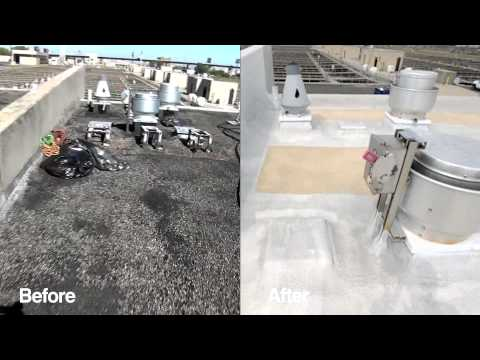 Spray Foam Roof Repair: Philadelphia Water Treatment Facility | Energy Efficiency | Honeywell