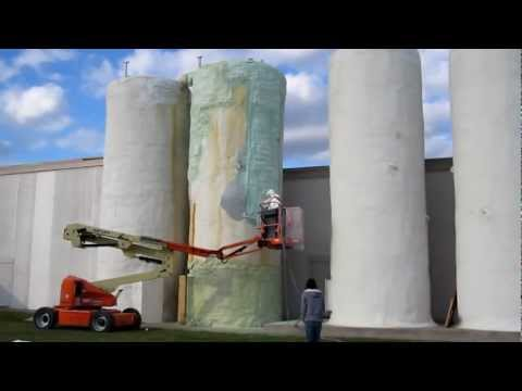 Tanks Insulated with Spray Foam Insuation