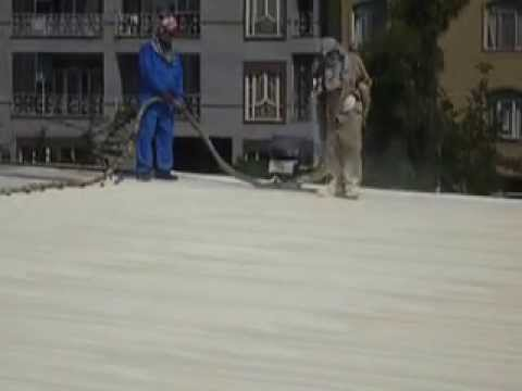 Spray Polyurethane Foam Application on Corrugated Roof